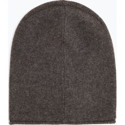 Marie Lund - Damska czapka z czystego kaszmiru, szary. Szare czapki damskie Marie Lund, z kaszmiru. Za 229,95 zł.
