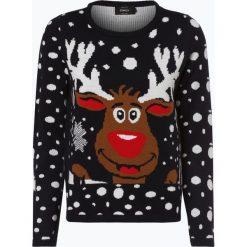 ONLY - Sweter damski – OnlX-Mas Bell Reindeer, niebieski. Niebieskie swetry klasyczne damskie ONLY, m. Za 119,95 zł.