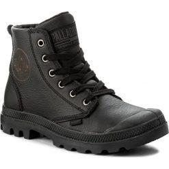 Trapery PALLADIUM - Pampa Hi Leather 72355-001-M Black. Czarne buty zimowe damskie marki Palladium, z materiału. W wyprzedaży za 289,00 zł.