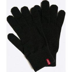 Levi's - Rękawiczki. Brązowe rękawiczki męskie Levi's®, z dzianiny. W wyprzedaży za 59,90 zł.