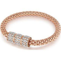 Bransoletki damskie: Pozłacana bransoletka ze szklanymi kryształkami