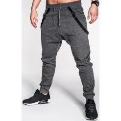Spodnie męskie: SPODNIE MĘSKIE DRESOWE P172 – GRAFITOWE