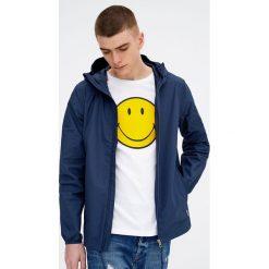 Kurtka z kapturem. Brązowe kurtki męskie marki Pull&Bear, z denimu, z kapturem. Za 139,00 zł.