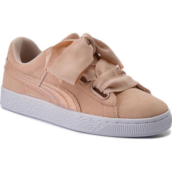 Sneakersy PUMA Suede Heart LunaLux Wn's 366114 02 Cream Tan