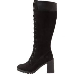 Timberland ALLINGTON 14IN SIDE ZIP Kozaki sznurowane black. Czarne buty zimowe damskie marki Timberland, z materiału. Za 879,00 zł.