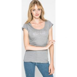 Guess Jeans - Koszulka piżamowa. Szare koszule nocne i halki Guess Jeans, s, z aplikacjami, z jeansu. W wyprzedaży za 69,90 zł.