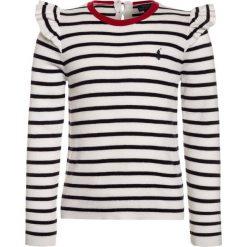 Polo Ralph Lauren STRIPE Sweter clubhouse cream/hunter navy. Niebieskie swetry chłopięce Polo Ralph Lauren, z bawełny, polo. W wyprzedaży za 367,20 zł.