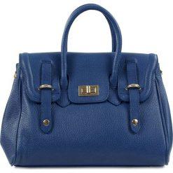 """Torebki klasyczne damskie: Skórzana torebka """"Hailey"""" w kolorze niebieskim – 32 x 24 x 11 cm"""