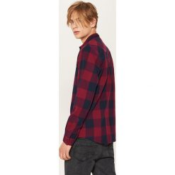 Koszula w kratę - Bordowy. Czerwone koszule męskie marki Reserved, m, z tkaniny. Za 79,99 zł.