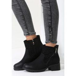 Czarne Matowe Botki Paris Love. Czarne buty zimowe damskie marki vices. Za 99,99 zł.