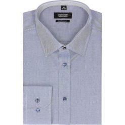 Koszula bexley 2448 długi rękaw custom fit granatowy. Niebieskie koszule męskie jeansowe Recman, na lato, m, button down, z długim rękawem. Za 99,99 zł.