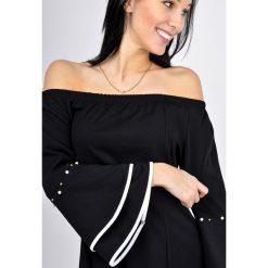 Bluzki asymetryczne: Elegancka bluzka z szerokimi rękawami