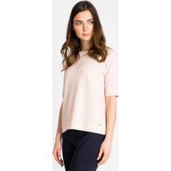 Apaszki damskie: Różowa strukturalna bluzka QUIOSQUE