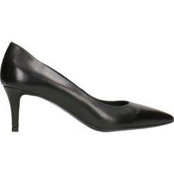 Czółenka RUMI. Czarne buty ślubne damskie Gino Rossi, ze skóry, na szpilce. Za 224,95 zł.