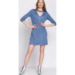 Ciemnoniebieska Sukienka Moon Light. Niebieskie sukienki hiszpanki Born2be, m, midi. Za 39,99 zł.