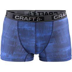 """Craft Męskie Bokserki Greatness 3"""", Niebieskie Z Nadrukiem, M. Niebieskie bokserki męskie marki Craft, z nadrukiem. Za 69,00 zł."""
