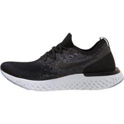 Nike Performance EPIC REACT FLYKNIT Obuwie do biegania treningowe black/dark grey/pure platinum. Czarne buty do biegania damskie Nike Performance, z materiału. Za 639,00 zł.