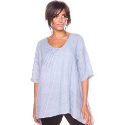 """Bluzki asymetryczne: Lniana koszulka """"Lys"""" w kolorze szarym"""