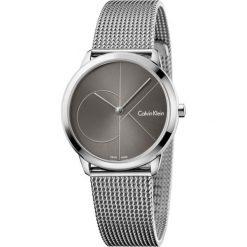 ZEGAREK CALVIN KLEIN MINIMAL K3M22123. Szare zegarki damskie marki Calvin Klein, szklane. Za 849,00 zł.