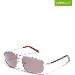 Okulary przeciwsłoneczne męskie lustrzane: Okulary męskie w kolorze srebrno-brązowym