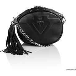Skórzana nerka łańcuszek czarna Sonia G-219. Czarne łańcuszki damskie Pakamera, metalowe. Za 329,00 zł.