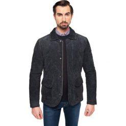 Kurtka konrad granatowy. Szare kurtki męskie pikowane marki Recman, m, z długim rękawem. Za 299,99 zł.