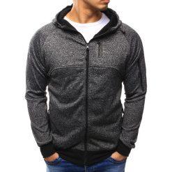 Bluzy męskie: Bluza męska rozpinana antracytowa (bx2201)