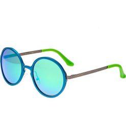 """Okulary przeciwsłoneczne męskie: Okulary męskie """"Corvus"""" w kolorze niebiesko-zielonym"""