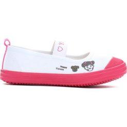 Buty sportowe dziewczęce: Biało-Fuksjowe Tenisówki Fronting