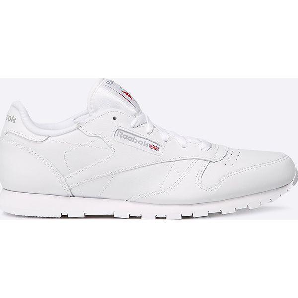 06ea3592df83ea Reebok Classic - Buty - Białe buty sportowe damskie Reebok Classic, bez  wzorów, ze skóry, sportowe, reebok classic. W wyprzedaży za 159,90 zł.
