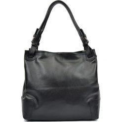 Torebki klasyczne damskie: Skórzana torebka w kolorze czarnym – (S)22,5 x (W)34 x (G)8,5 cm