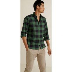 Mango Man - Koszula Claude. Szare koszule męskie na spinki Mango Man, l, w kratkę, z bawełny, button down, z długim rękawem. Za 139,90 zł.