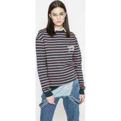 Tommy Jeans - Bluza. Szare bluzy damskie marki Tommy Jeans, l, z bawełny, bez kaptura. W wyprzedaży za 219,90 zł.