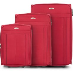 Zestaw walizek V25-3S-27S-30. Czarne walizki marki Wittchen, z gumy, duże. Za 434,31 zł.