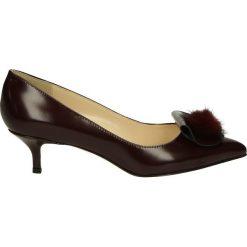 Czółenka - 8013 ABR BORD. Brązowe buty ślubne damskie Venezia, ze skóry. Za 249,00 zł.
