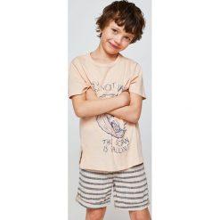 Mango Kids - T-shirt dziecięcy Contest 110-164 cm. Szare t-shirty chłopięce z nadrukiem marki Mango Kids, z bawełny, z okrągłym kołnierzem. W wyprzedaży za 19,90 zł.