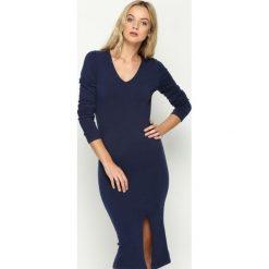 Granatowa Sukienka Grant. Niebieskie sukienki dzianinowe marki Born2be, l. Za 49,99 zł.