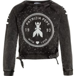 Patrizia Pepe Bluza black. Czarne bluzy dziewczęce marki Patrizia Pepe, ze skóry. W wyprzedaży za 343,20 zł.
