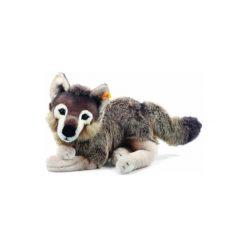 Przytulanki i maskotki: STEIFF Maskotka Piesek Wilk 40 cm kolor szary/brązowy
