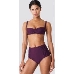 Trendyol Góra bikini z drapowaniem - Purple. Fioletowe bikini marki FOUGANZA, z bawełny. W wyprzedaży za 50,48 zł.