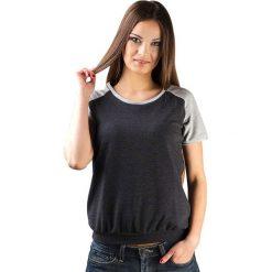 Topy sportowe damskie: Bluzka w kolorze czarno-szarym