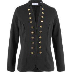 Żakiet dresowy, długi rękaw, z kolekcji Maite Kelly bonprix czarny. Czarne marynarki i żakiety damskie bonprix, z dresówki. Za 99,99 zł.