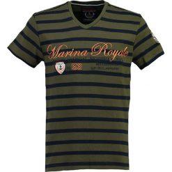 """T-shirty męskie z nadrukiem: Koszulka """"Jura"""" w kolorze oliwkowo-granatowym"""