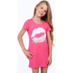 Sukienka dziewczęca z nadrukiem amarantowa NDZ8177. Szare sukienki dziewczęce marki Fasardi. Za 49,00 zł.