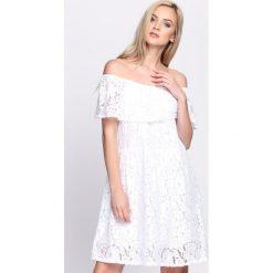 Sukienki hiszpanki: Biała Sukienka Super Natural