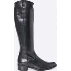 Wojas - Kozaki. Czarne buty zimowe damskie marki Wojas, z materiału, z okrągłym noskiem. W wyprzedaży za 379,90 zł.