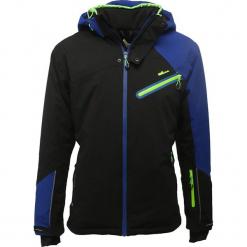Kurtka narciarska w kolorze czarnym. Czarne kurtki narciarskie męskie marki Peak Mountain, m, z materiału. W wyprzedaży za 406,95 zł.