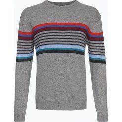Swetry klasyczne męskie: Andrew James – Sweter męski z dodatkiem kaszmiru i wełny merino, szary