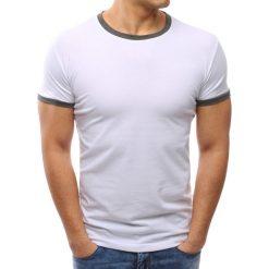 T-shirty męskie: T-shirt męski gładki biały (rx2668)