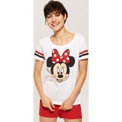 Koszulka piżamowa Minnie Mouse - Wielobarwn. Czerwone koszule nocne i halki marki House, l, z motywem z bajki. Za 35,99 zł.